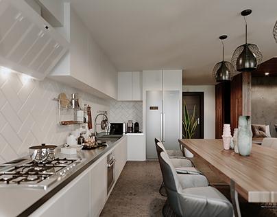 Apartment in Stockholm - Updated WIP CGI renderings
