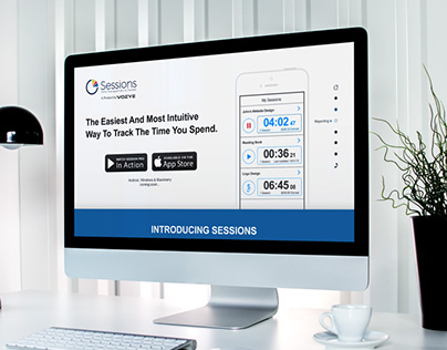 Sessions Pro App - Website Design