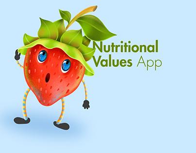 UI/UX Design Nutritional values App