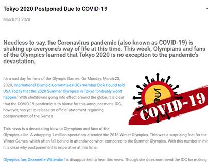 Tokyo 2020 Postponed