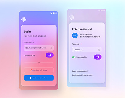 Login UI kit for Doctor app