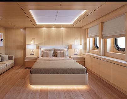 Yacht cabins interiors