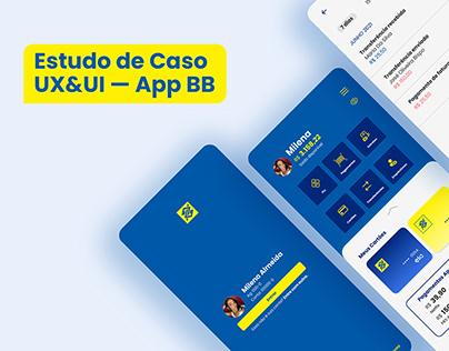 Estudo de Caso UX/UI — App Banco do Brasil