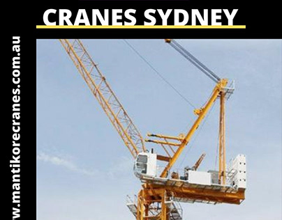Luffing cranes Sydney effective construction project