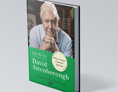 Life On Air. David Attenborough. Book cover design