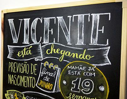 Testes Lousa para Chá de Bebê: Vicente