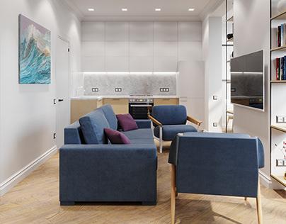 Scandi apartment. Odessa 2018