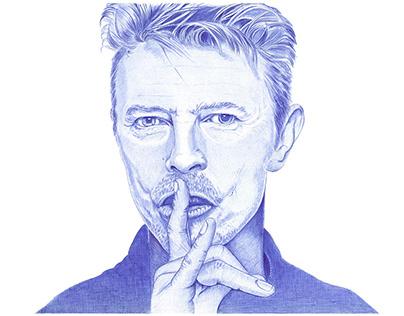 Retratos de músicos a bolígrafo