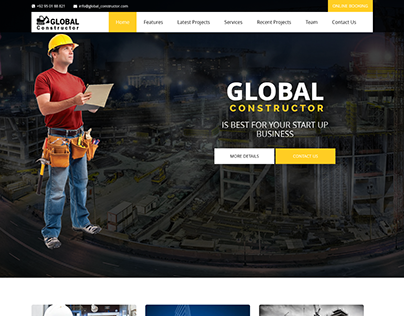 Global Constructor - Construction Single Page Bootstra