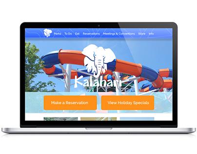 Kalahari Waterparks Website Redesign