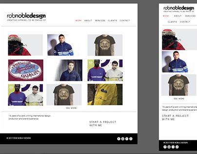 RobNobleDesign Website 2019
