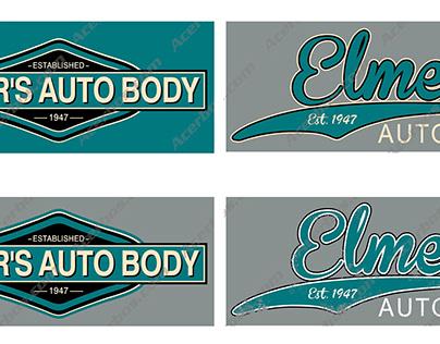 Elmer's Auto Body Logos