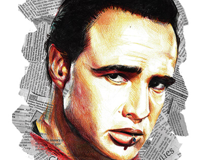 Marlon Brando Magazine Spread
