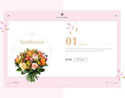 Rosa Flower - Ecommerce
