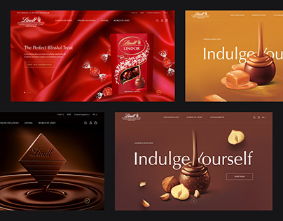 Lindt Website Design