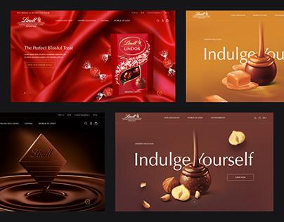 Lindt Website Design