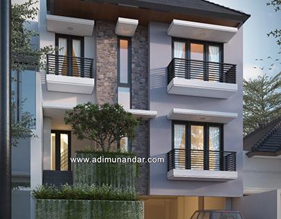 Desain Arsitektur Kantor 3 lantai di Surabaya
