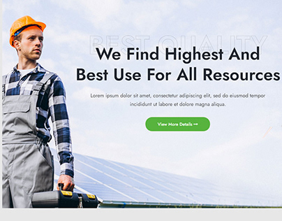 Solar Energy Services WordPress Theme