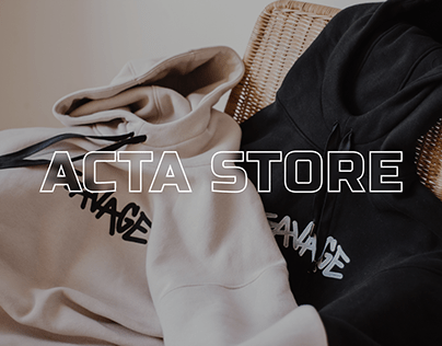 WEBSITE for online store ACTA STORE