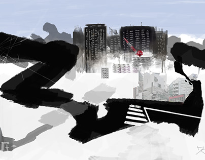 Tokyo Inspired Abstract Digital Cityscapes I