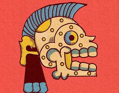 mayan skull - illustration study