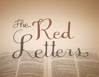 Red Letters Sermon Art