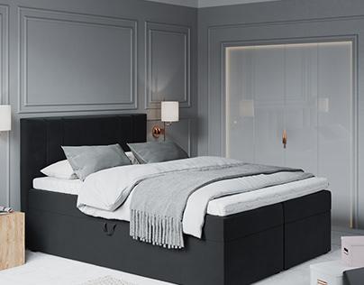 Afra Bed, 3D Model + Interior
