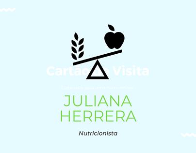 Cartão de visita para nutricionista.