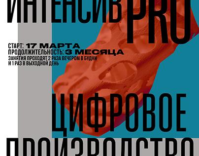 Постеры для интенсивов школы МАРШ