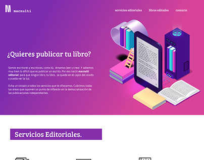 Macnulti Editorial Landing Page