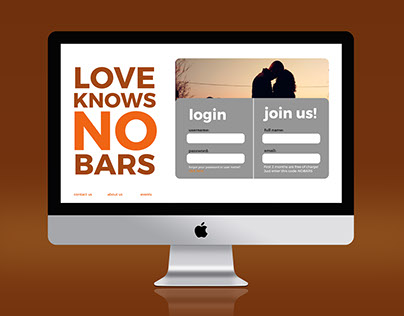 Love Knows No Bars UX Design Challenge