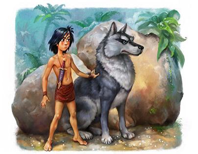"""Mowgli. Illustrations for the """"Dreamsland"""" book"""