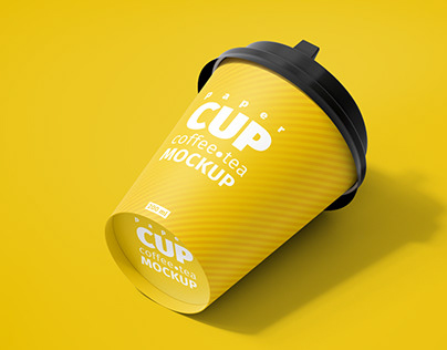 Paper Cup 200ml Mockup