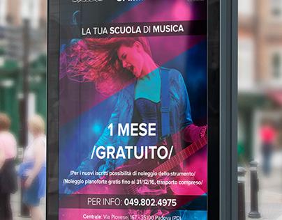 Cartolina / poster Scuola di musica