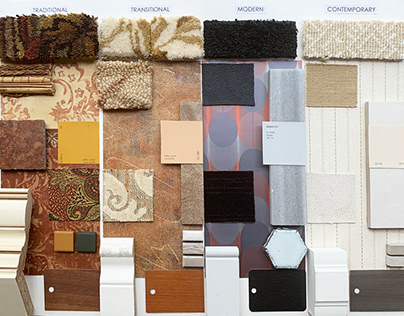 Sample Board. Materials for different styles