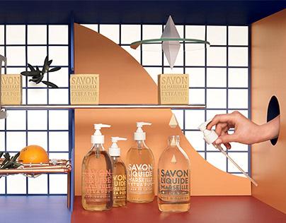 Compagnie de Provence - Marseille's soap set design