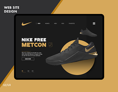 Nike / Web Site Design Nike Web UI