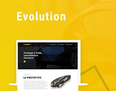 Evolution Prototype - Website Design