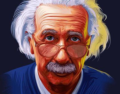 Albert Einstein Vector art