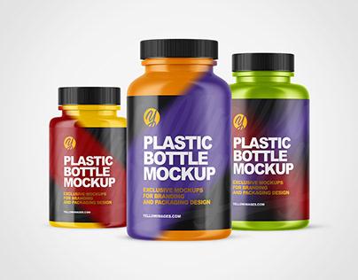 Plastic Bottle PSD Mockups