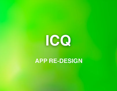 ICQ redesign concept (mail.ru dribbble competition)