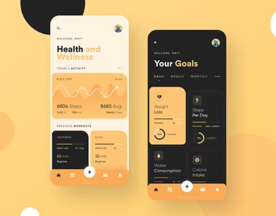 Health App (Light/Dark)
