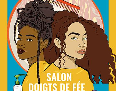 Illustration sur mesure Salon de coiffure
