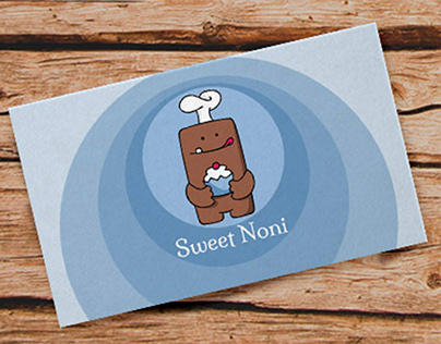 Business Card created for a cake brand