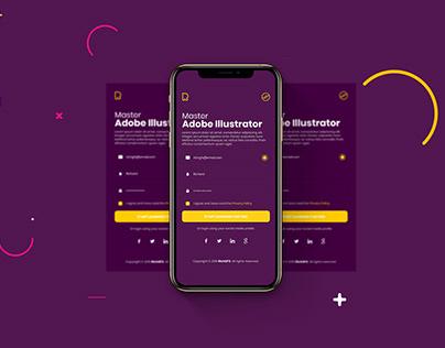 App Login UI Design in Adobe Illustrator