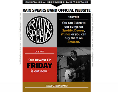 Rain Speaks Band logo and web design