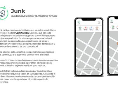 Ejercicio postulación laboral: Conceptual App reciclaje