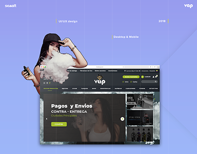 Redesign for Tiendavap VapeShop