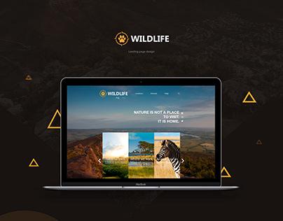 """Wildlife"" | Landing page and logo design"