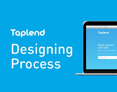 Taplend. Designing process